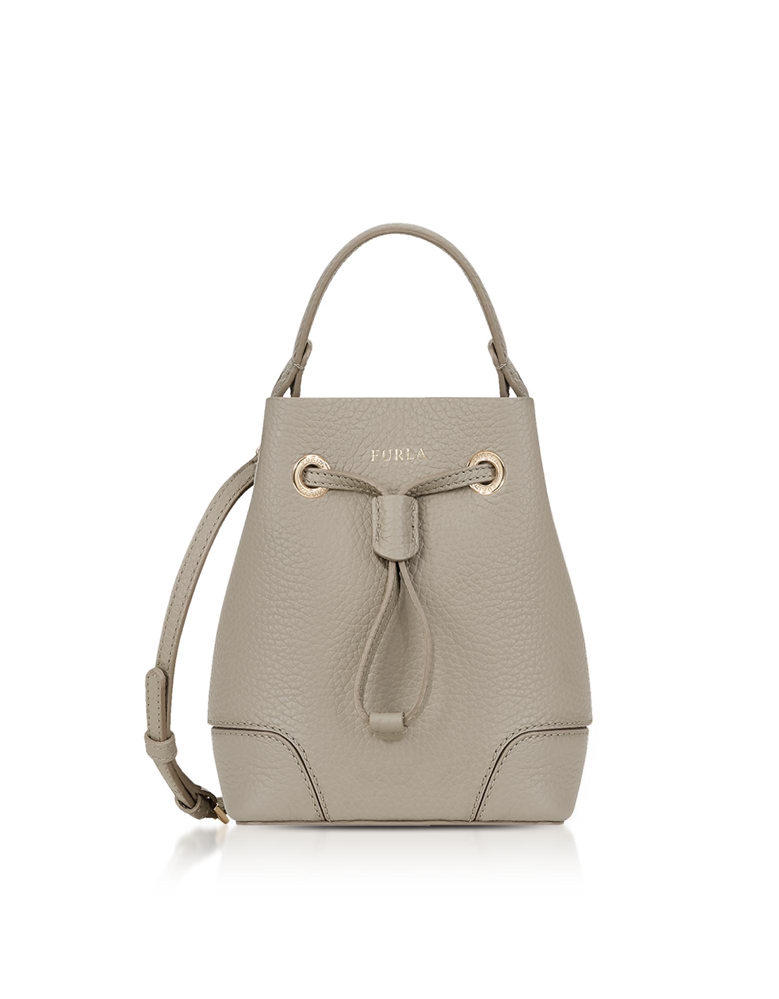 Furla Handbags, Stacy Mini Drawstring Bucket Bag