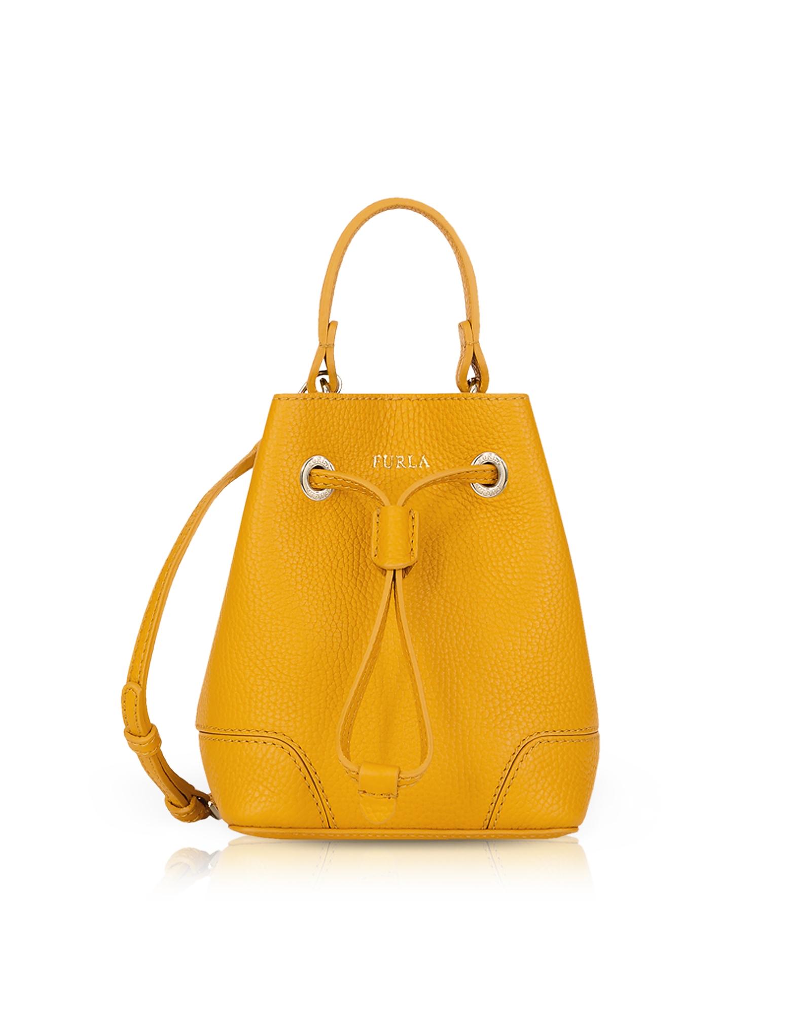 Stacy Mini Drawstring Bucket Bag