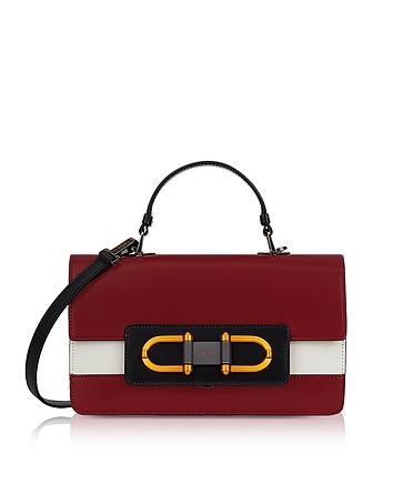 Furla Ciliegia Leather Bellaria Small Top Handle Satchel Bag