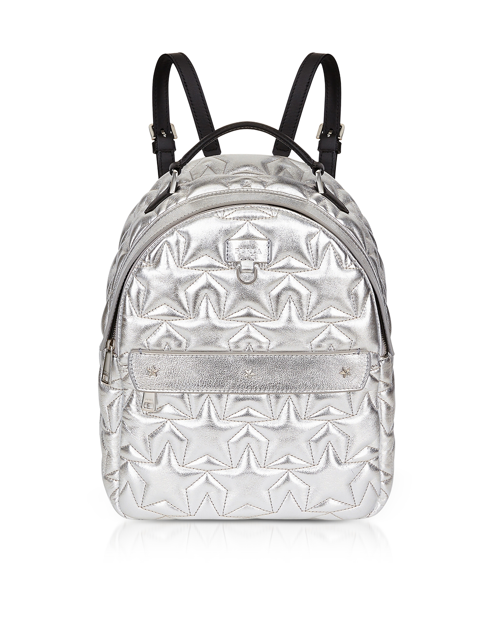 Silver Star Quilted Leather Favola Small Backpack