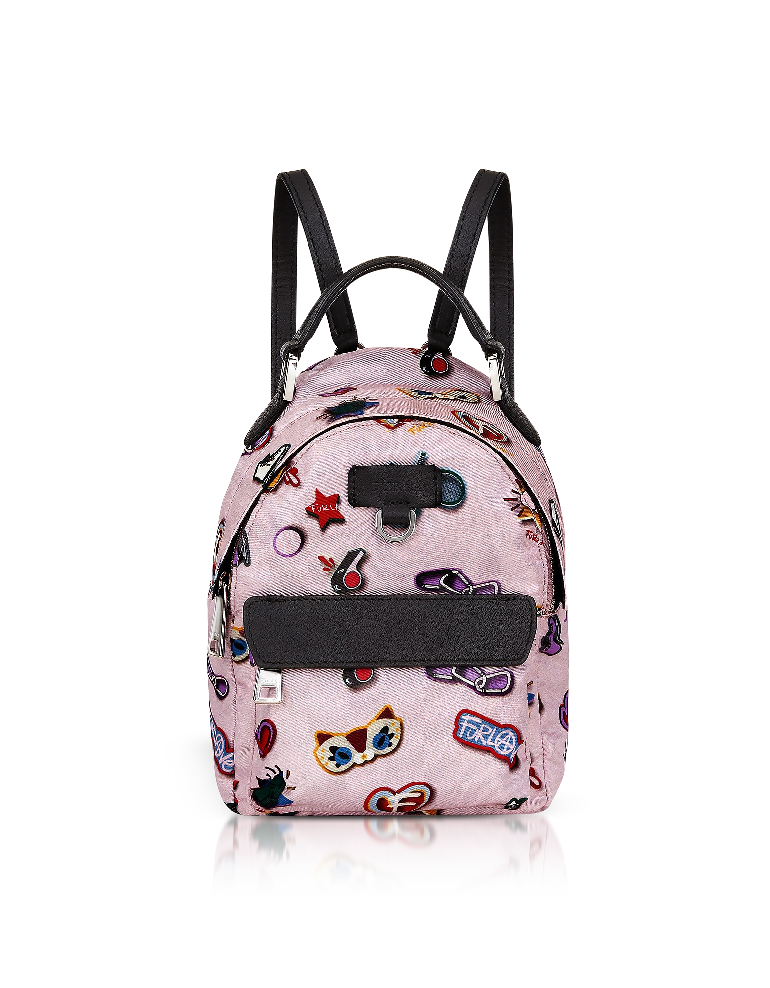 Toni Camelia Mini Favola Backpack. Toni Camelia Mini Favola Backpack crafted in sport print nylon with leather accents, is the MVP of fun gets you thr