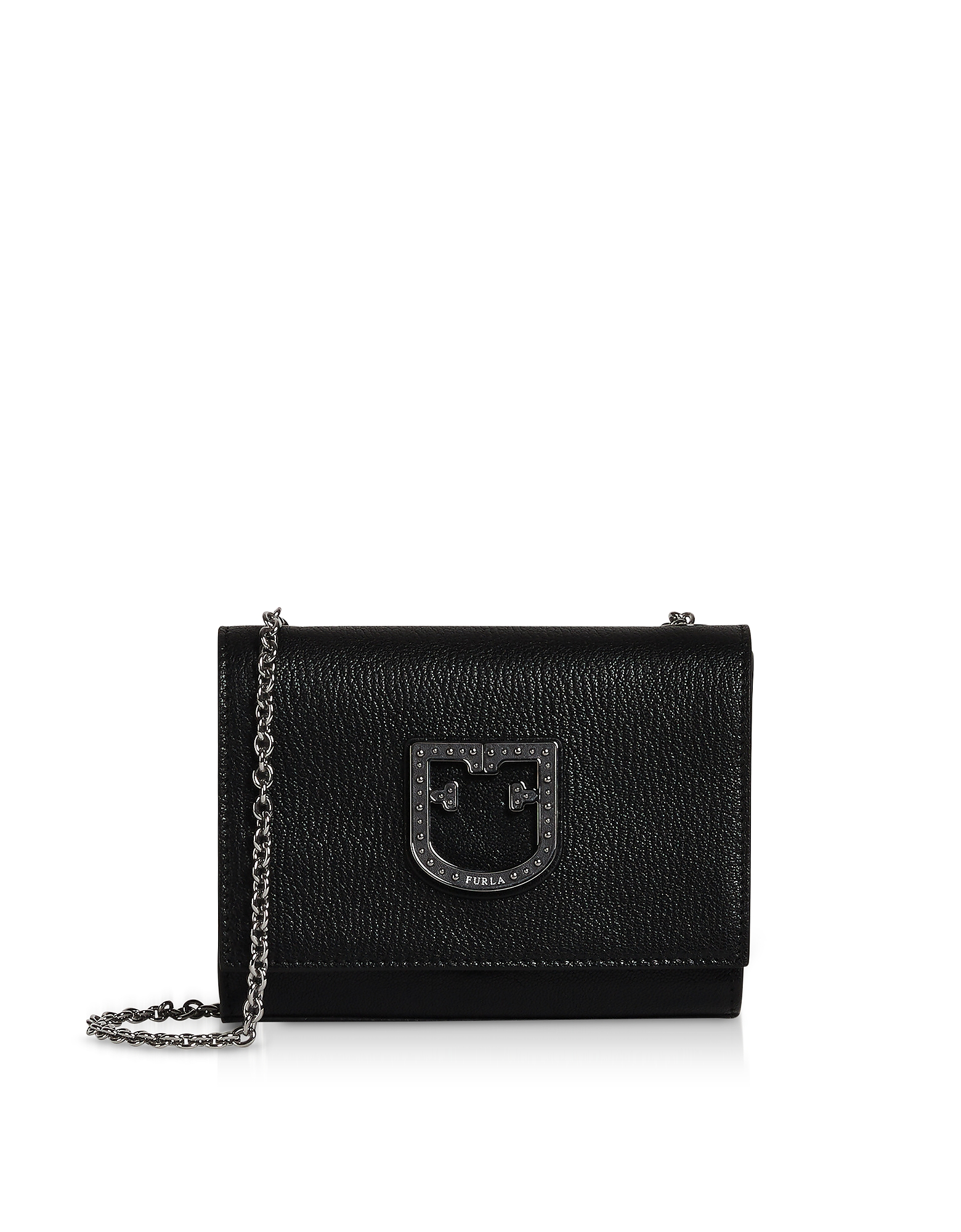 Onyx Leather Viva Mini Pochette