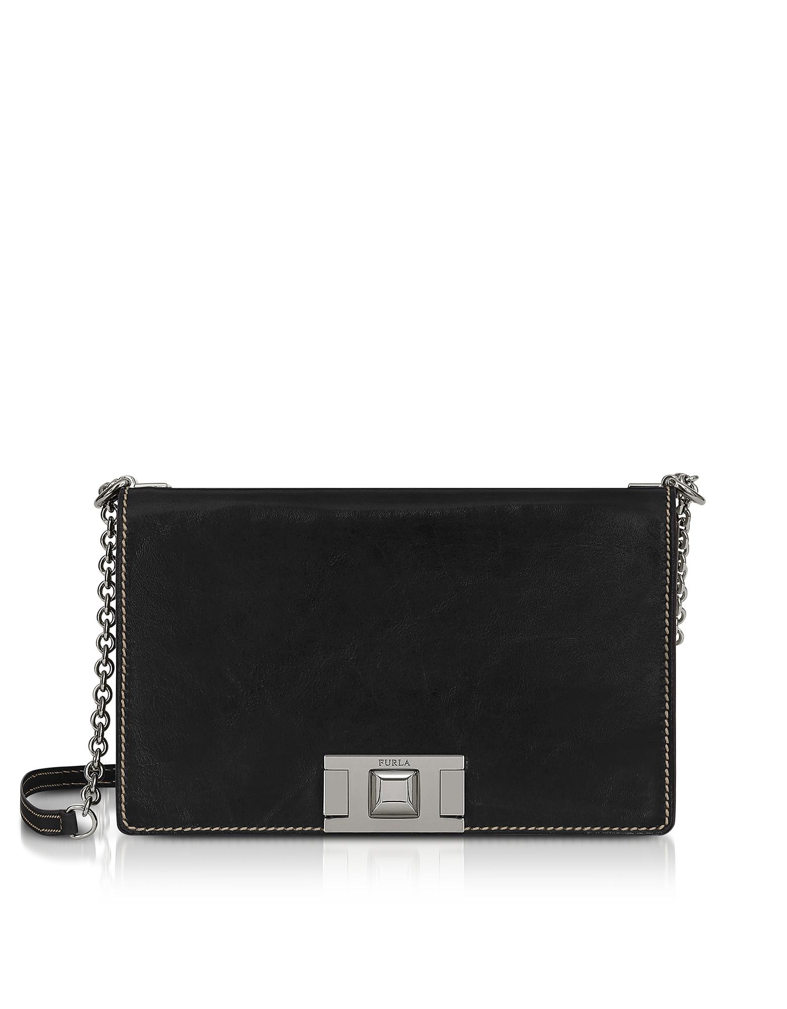 Furla Designer Handbags, Glossy Leather Mimì S Crossbody Bag