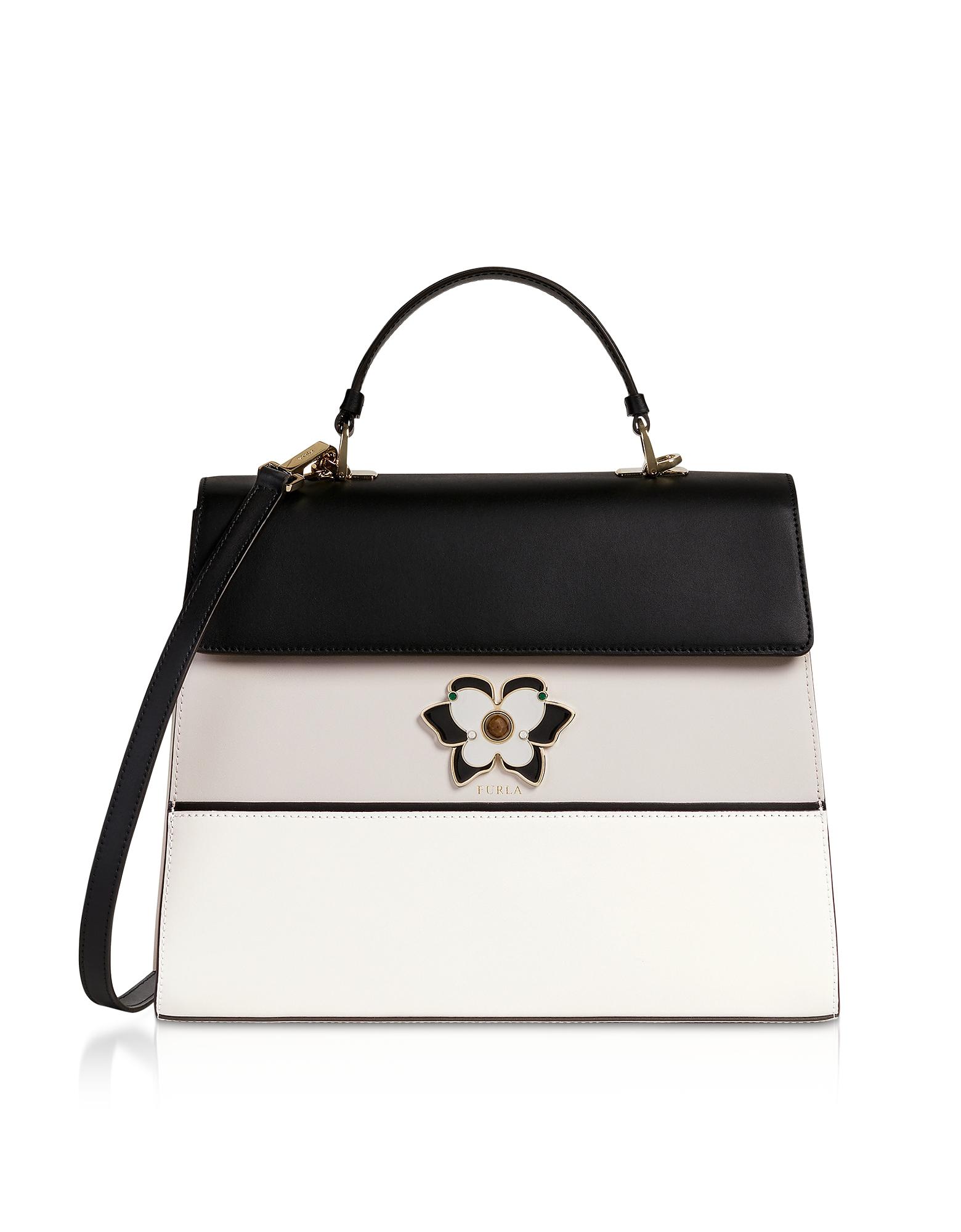260cbd47f1 FURLA   Furla Designer Handbags, Mughetto Large Top Handle Satchel Bag    Goxip