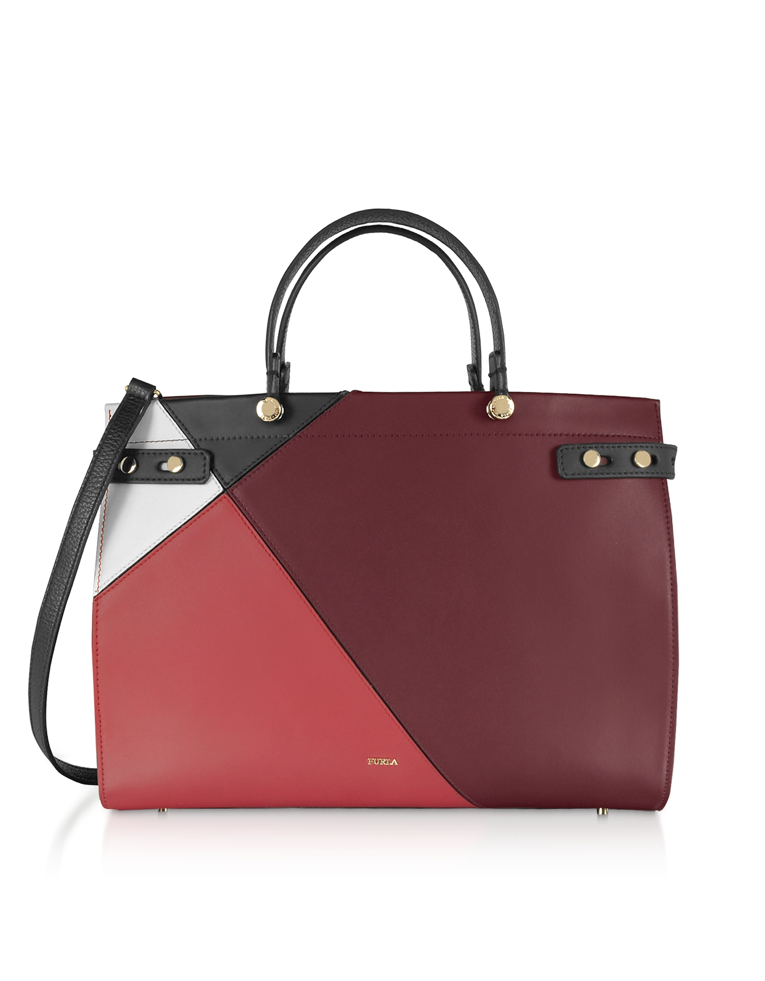 Furla  Handbags Lady M Color Block Large Tote Bag