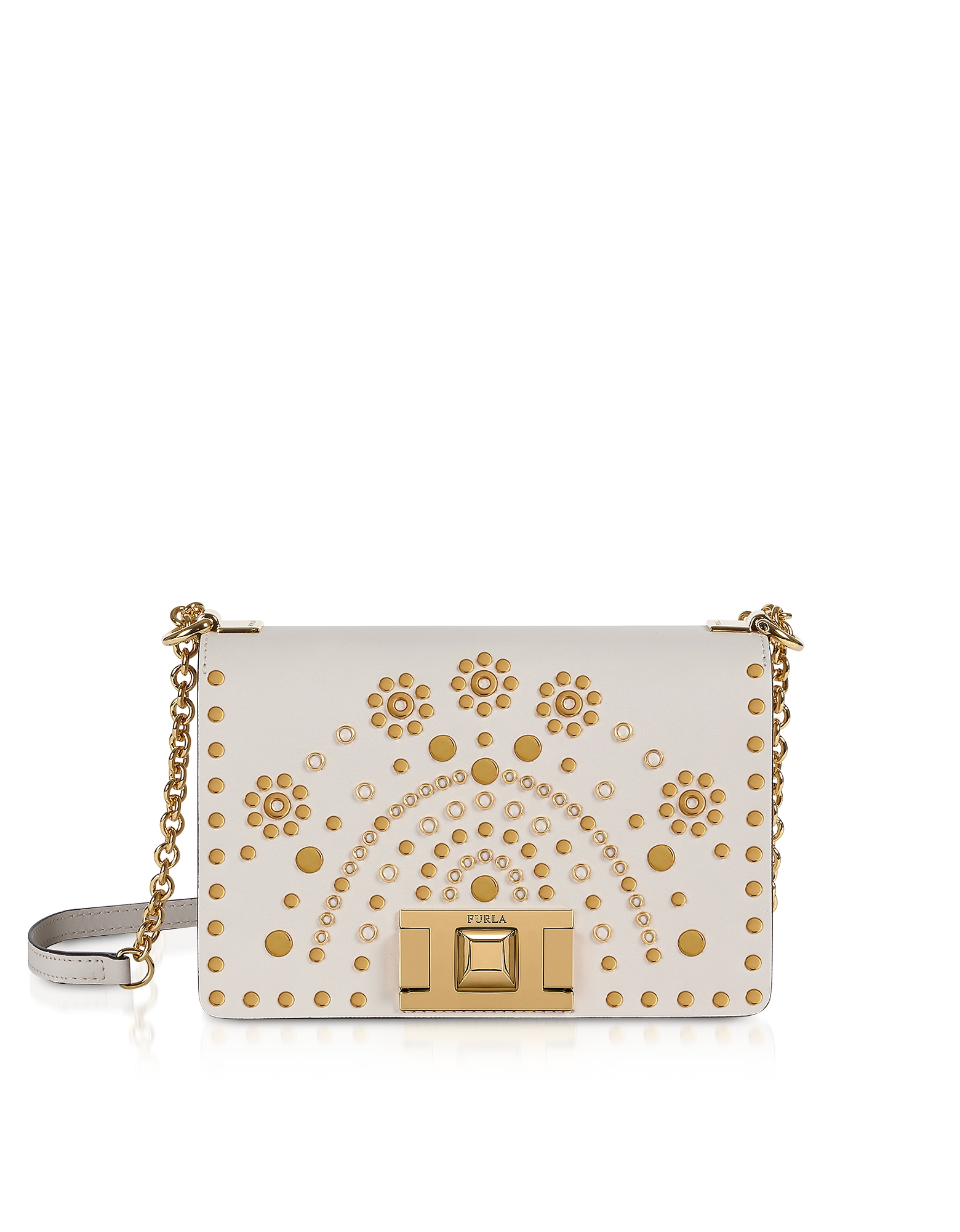 Lino Mimì Mini Crossbody Bag w/ Gold Studs