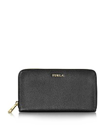 Babylon XL Zip Around Saffiano Leather Wallet - Furla