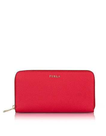 Ruby Babylon XL Zip Around Calf Leather Wallet