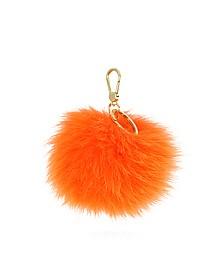 Bubble Fur Pom Pom Key Ring - Furla