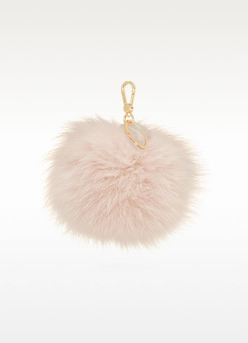 Bubble Fur Pom Pom Key Ring - Furla