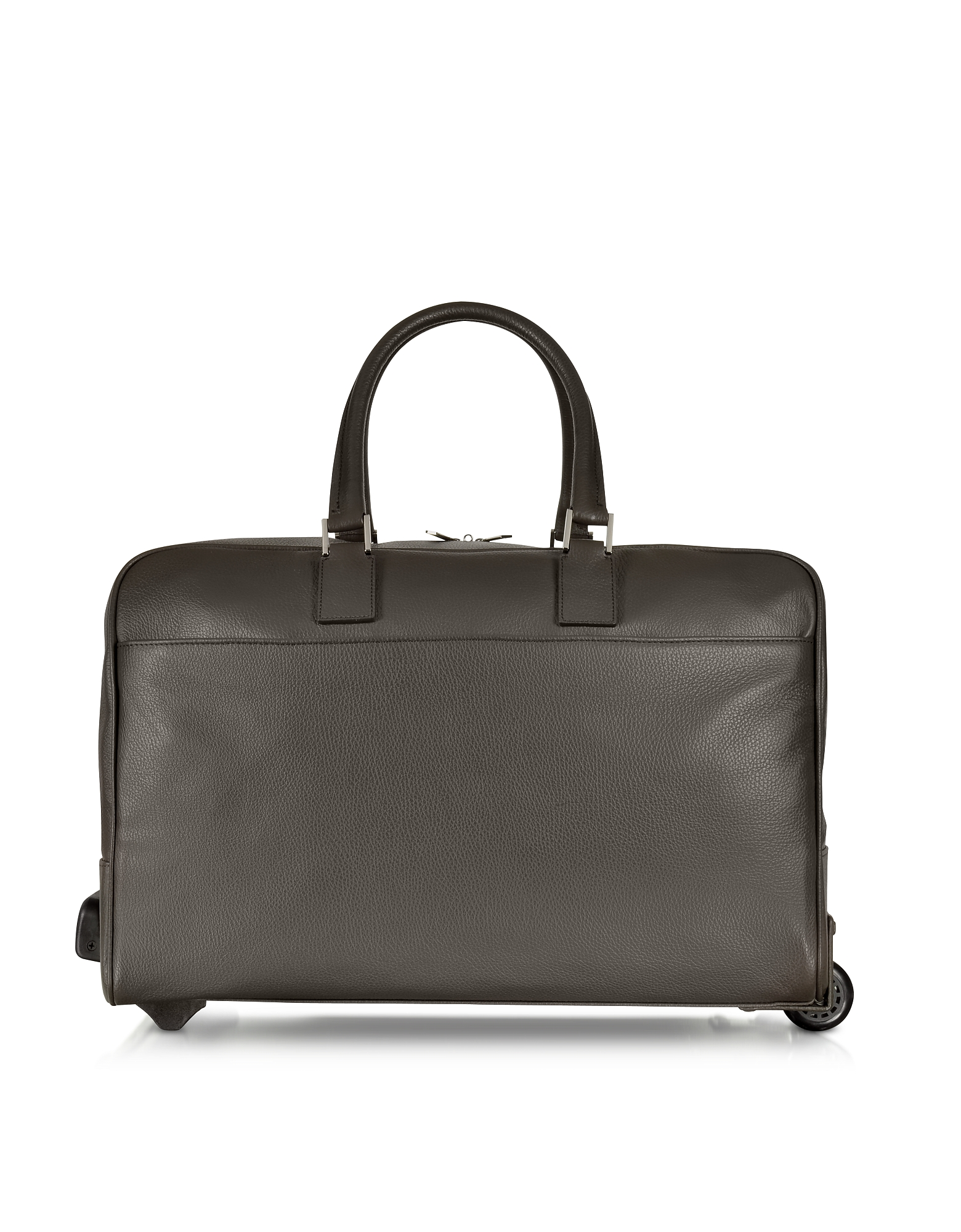 Giorgio Fedon 1919 Travel Bags, Dark Brown Travel Leather Rolling Duffle