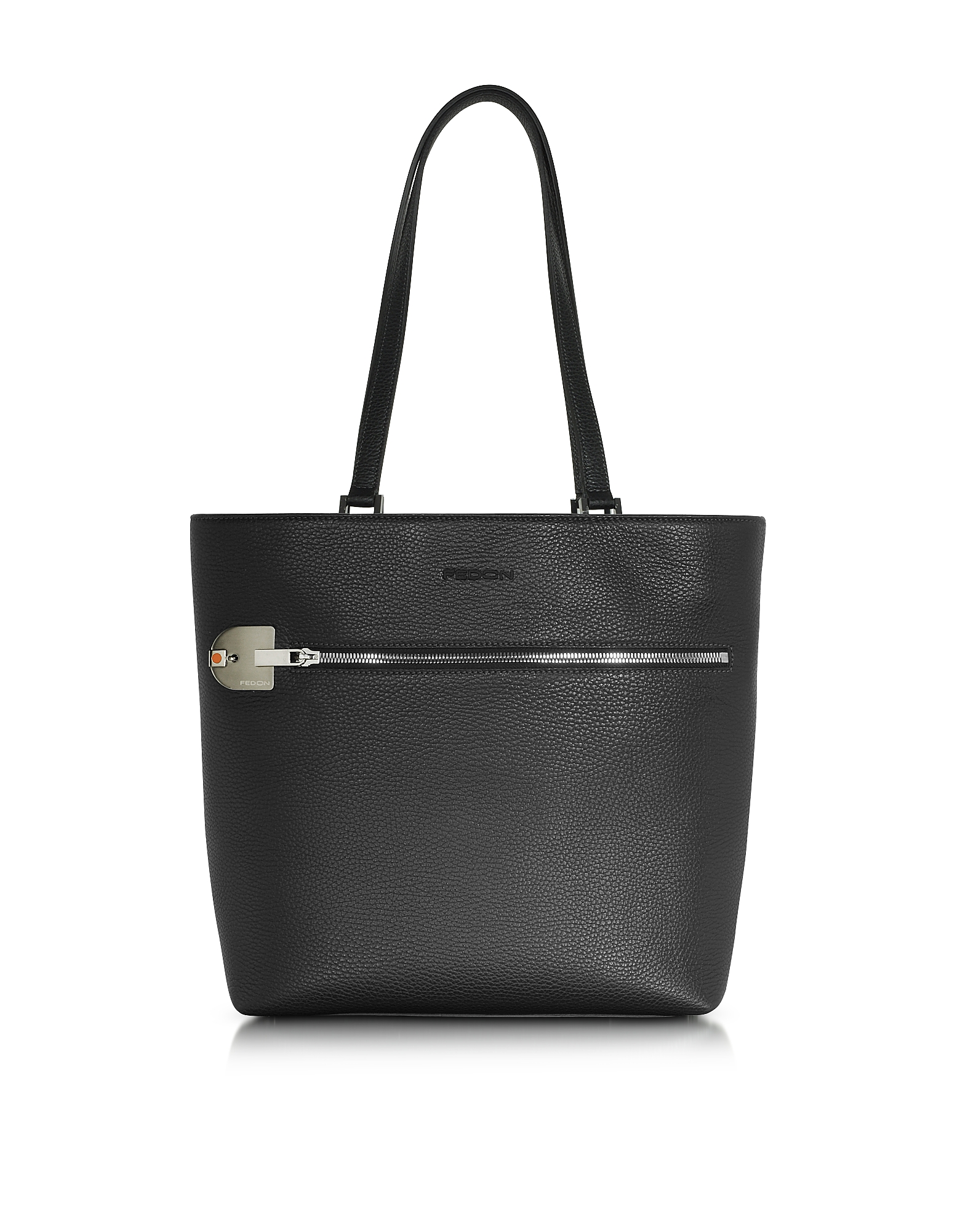 Giorgio Fedon 1919 Handbags, Amelia Black Leather Tote Bag