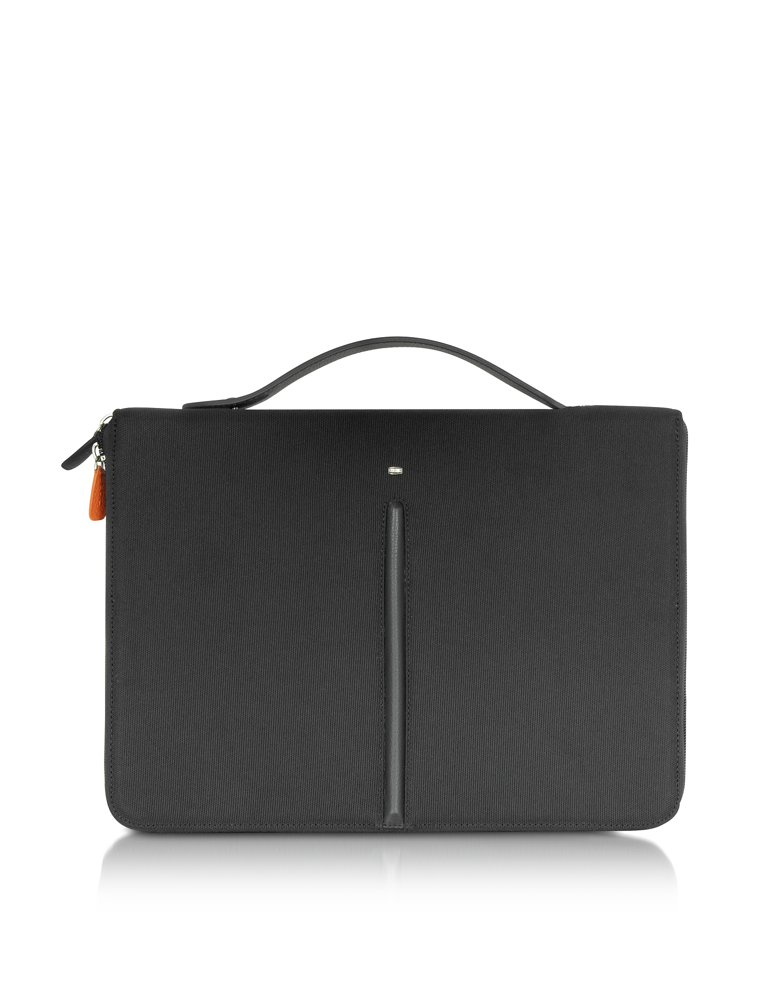 Giorgio Fedon 1919 Briefcases, Web File 2 Black Leather and Nylon 13