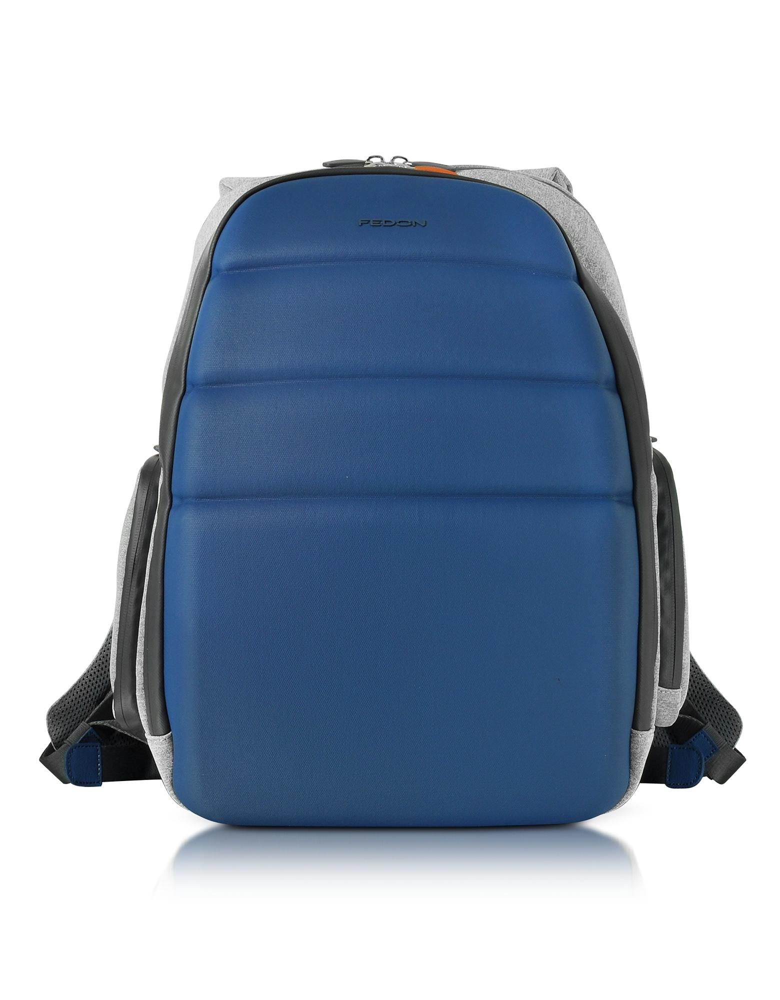 "Giorgio Fedon 1919 Backpacks, Ninja Black Coated Jersey Backpack w/13"" Laptop Compartment"