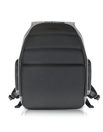 Giorgio Fedon 1919 - Ninja Black Coated Jersey Backpack w/13 Laptop Compartment