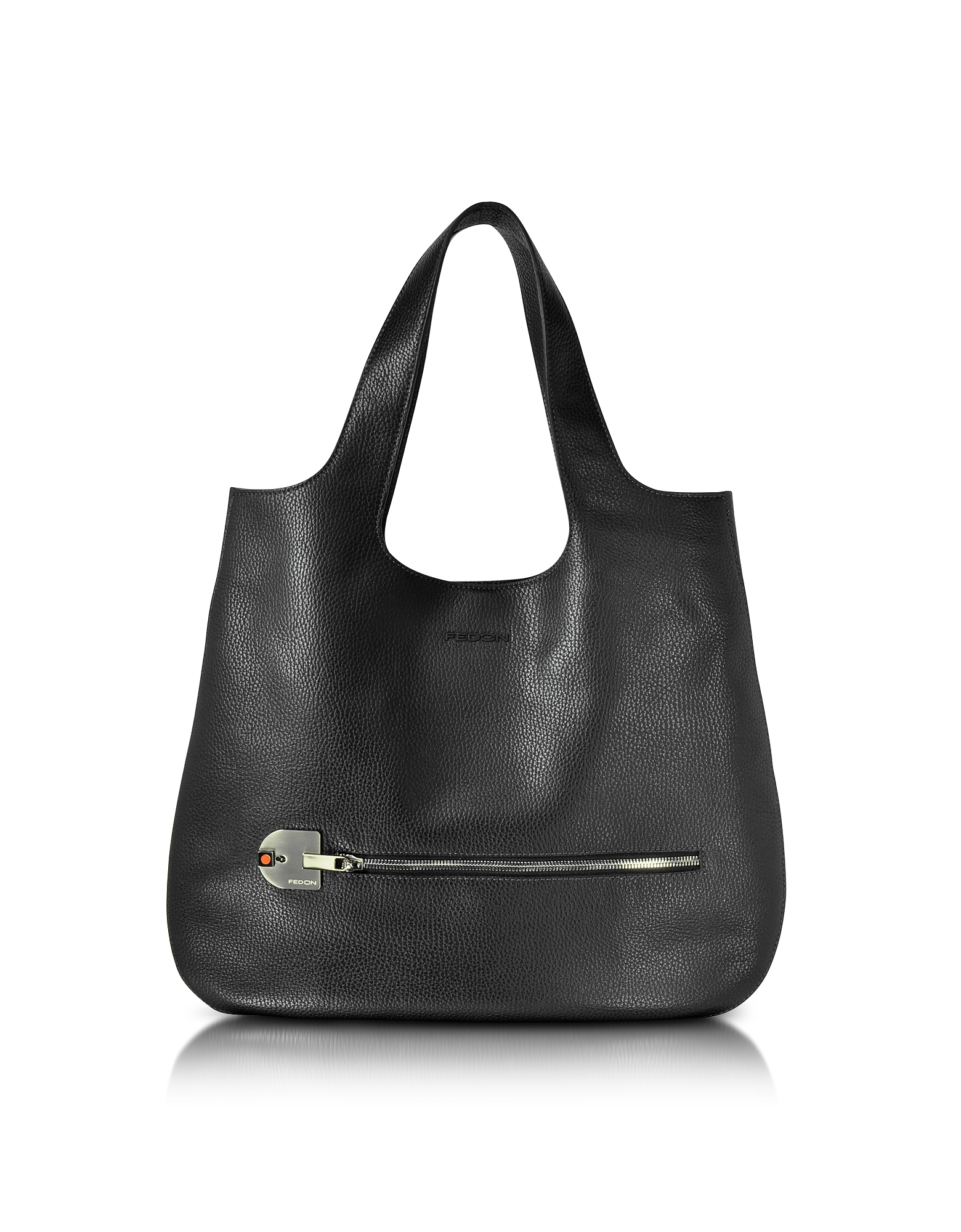 Giorgio Fedon 1919 Handbags, Amelia Black Leather Slim Tote Bag