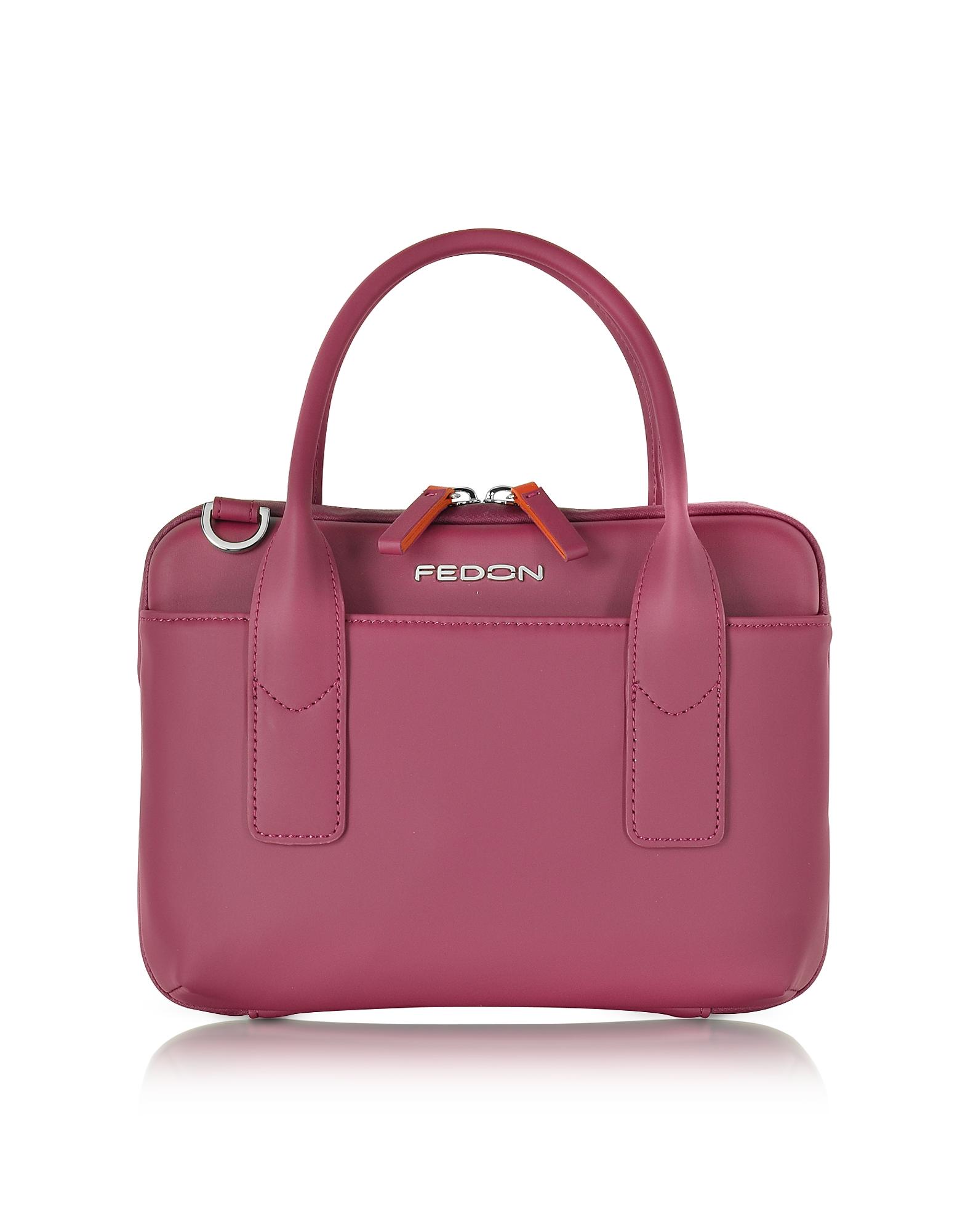 Giorgio Fedon 1919 Handbags, Bubble Double Handles Mini Bag w/Shoulder Strap