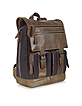 MW Canvas and Leather Backpack - Giorgio Fedon 1919