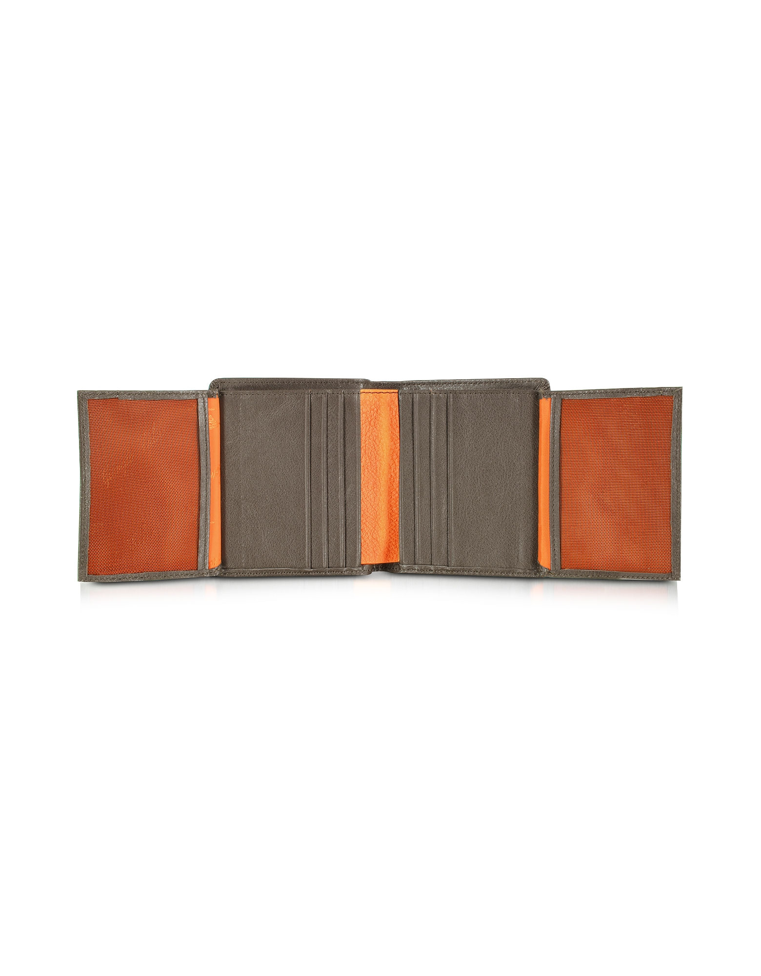 Spicy Collection - Dark Brown Grained Leather Small Men's Wallet от Forzieri.com INT