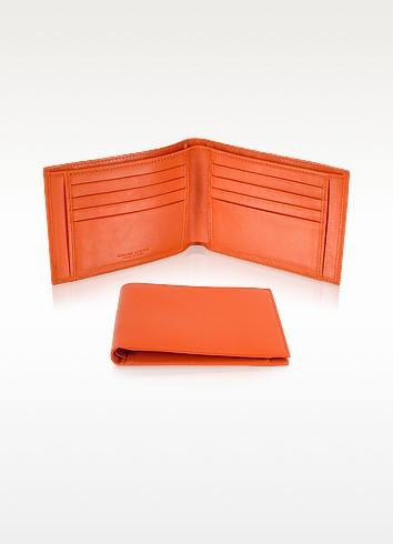Giorgio Fedon 1919 Classica -  Мужское Оранжевое Портмоне из Кожи Теленка