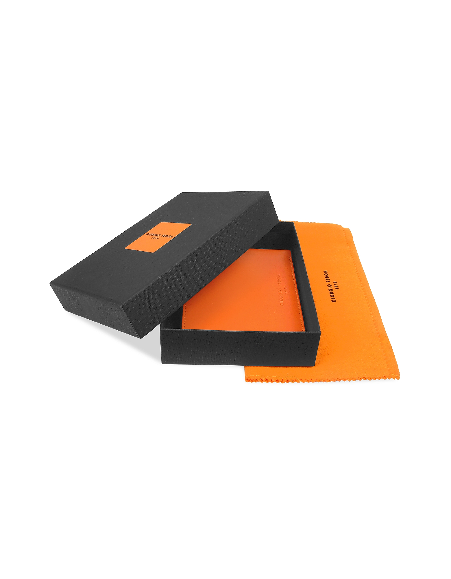 Classica - Men's Orange Calfskin Billfold Wallet от Forzieri.com INT