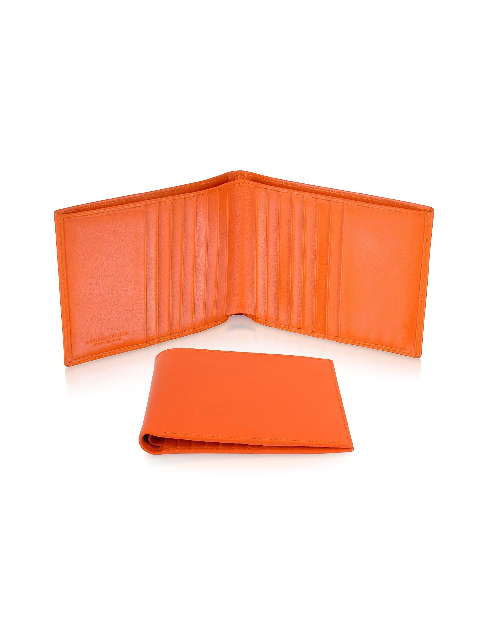 Classica - Оранжевый Мужской Бумажник для Кредитных Карт из Кожи Теленка