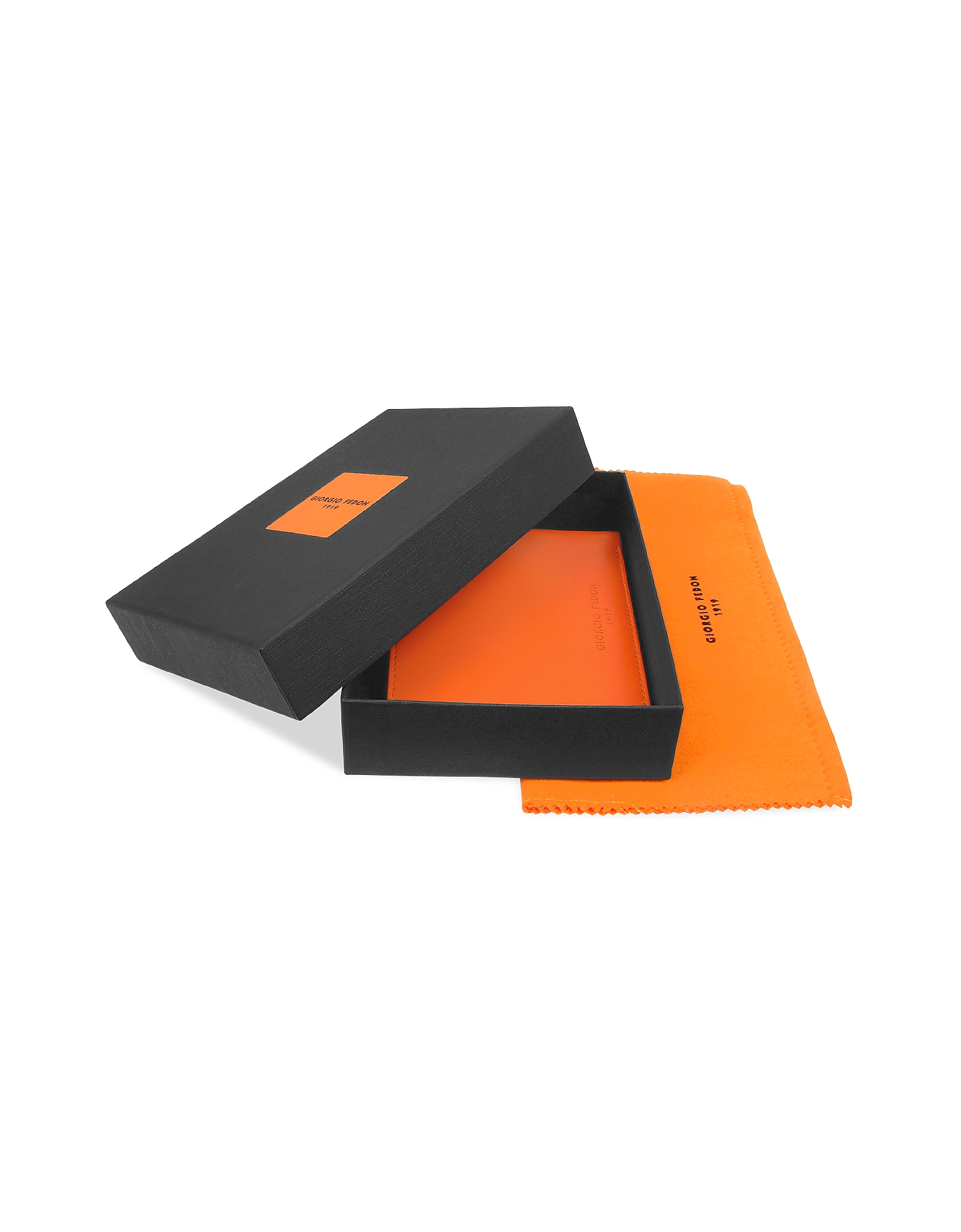 Classica - Men's Orange Calfskin Card Holder Wallet от Forzieri.com INT