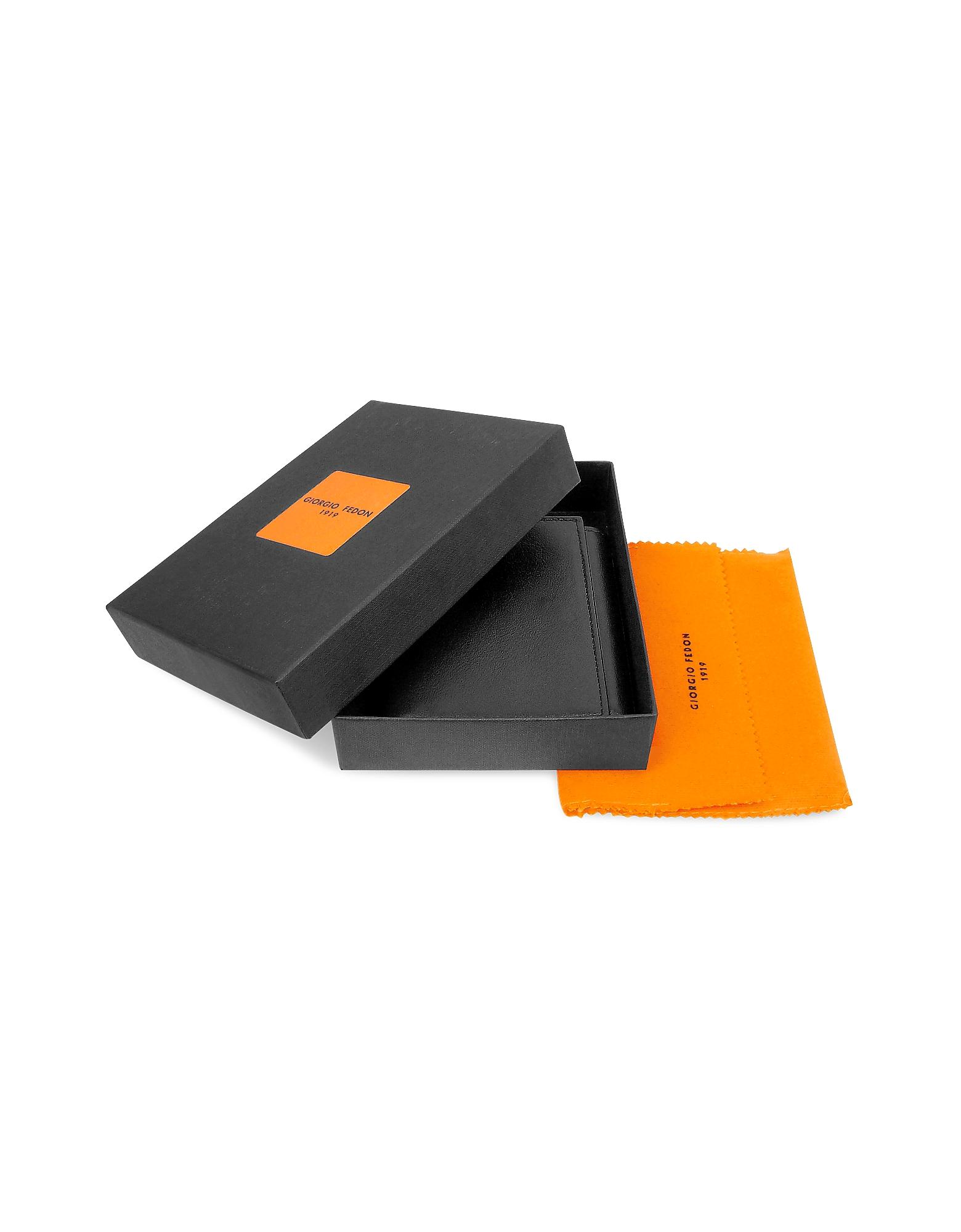 Classica - Women's Black Calfskin Small Trifold Wallet от Forzieri.com INT