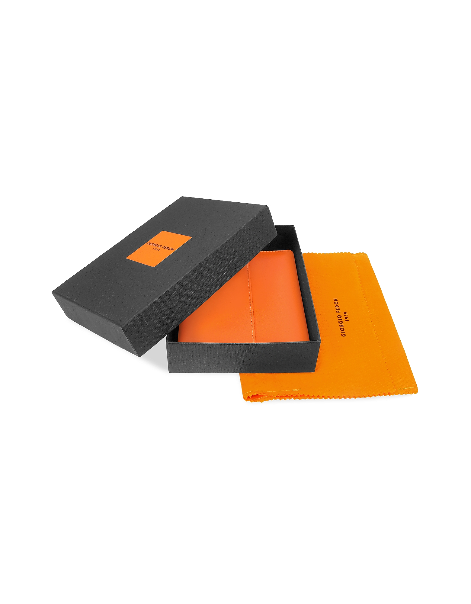 Classica - Women's Orange Calfskin Flap Wallet от Forzieri.com INT