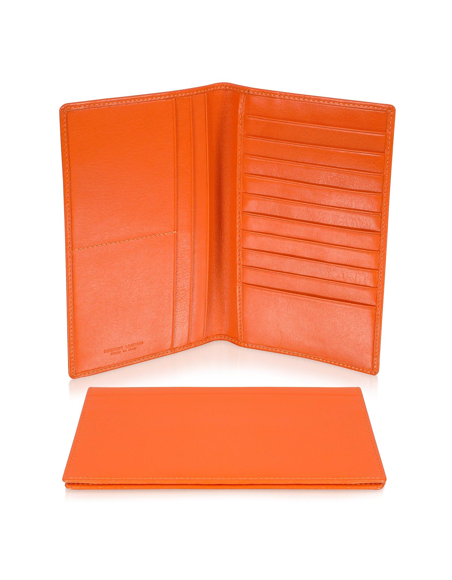 Classica Collection - Оранжевый Вертикальный Бумажник из Кожи Теленка