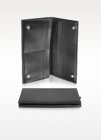 Giorgio Fedon 1919 Classica Collection - Черный Кошелек из Кожи Теленка