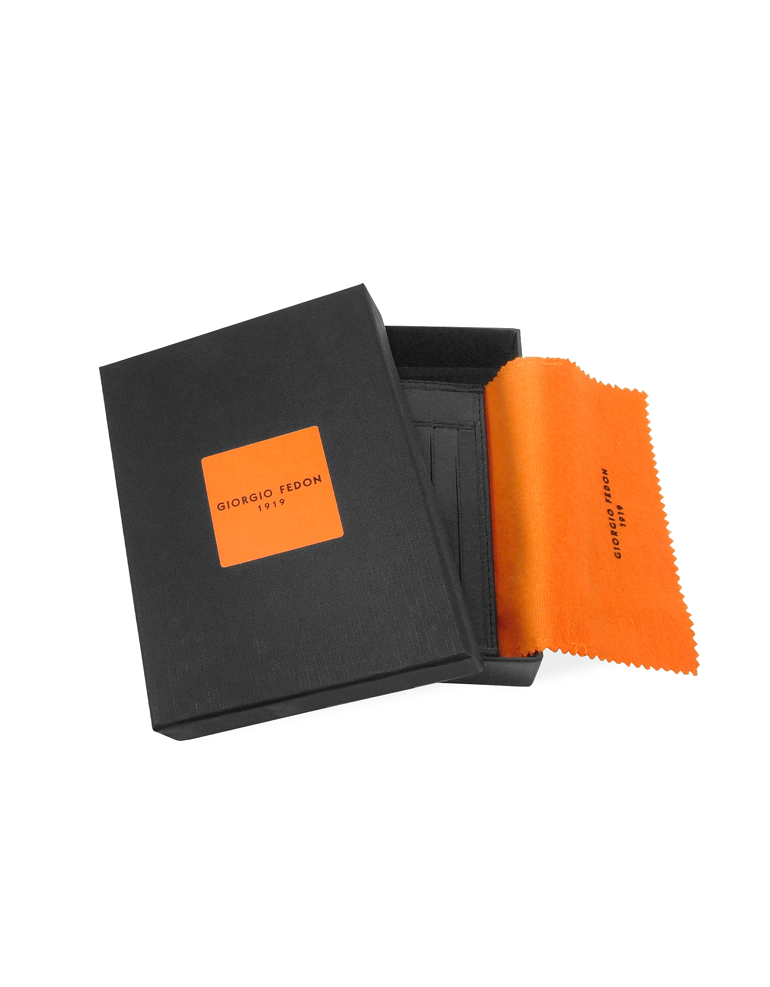 Classica Collection - Black Calfskin Card Holder от Forzieri.com INT