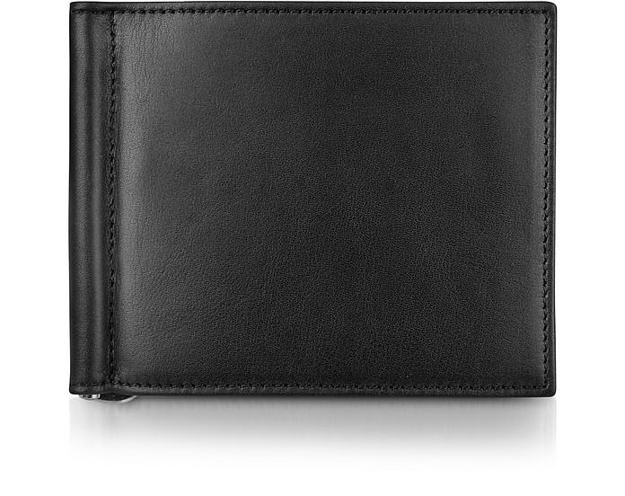 Classica Collection - Black Calfskin Money Clip Wallet - Giorgio Fedon 1919