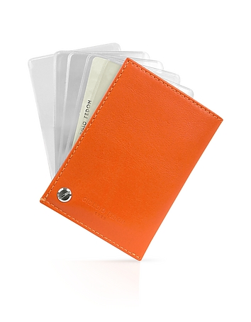 Giorgio Fedon 1919 - Classica - Orange Calfskin Business Card Holder