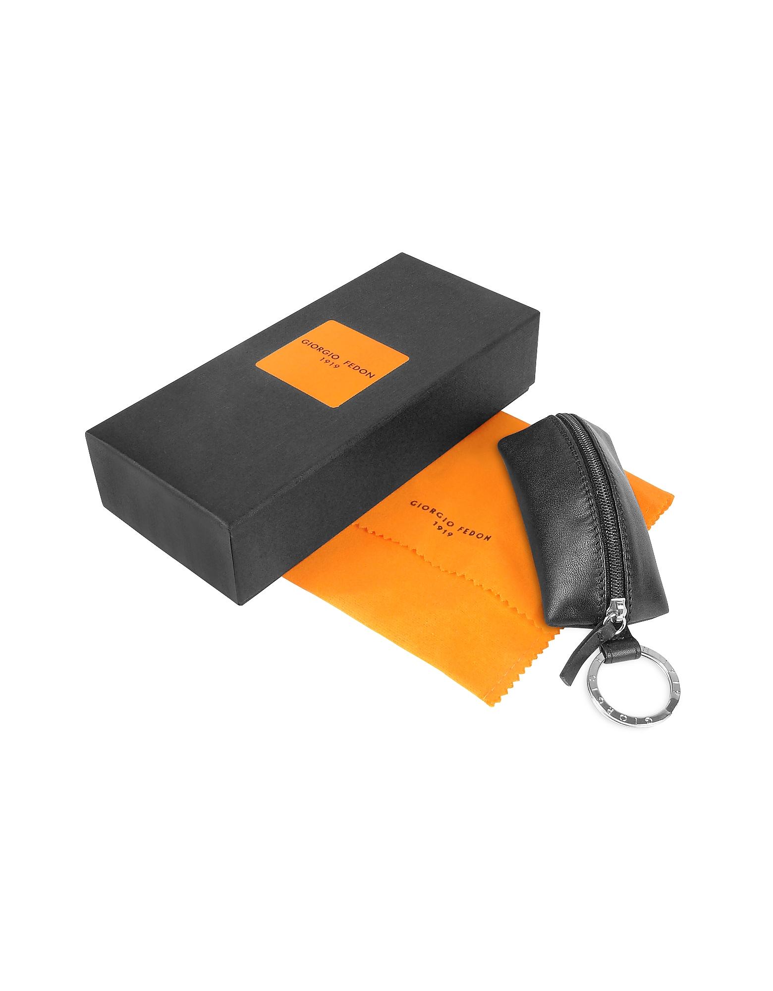 Classica - Black Calfskin Key Fob w/ Compartment от Forzieri.com INT