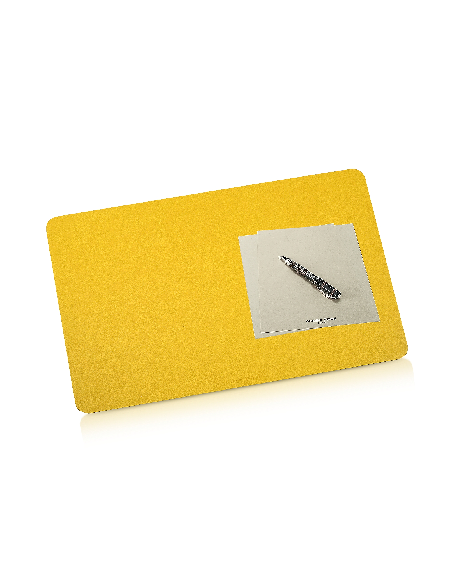 Giorgio Fedon 1919 Desk Accessories, Charme - Yellow Desk Pad
