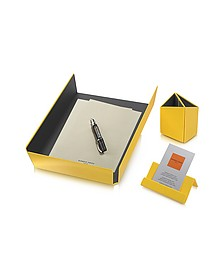 Charme - Set de bureau jaune - Giorgio Fedon 1919