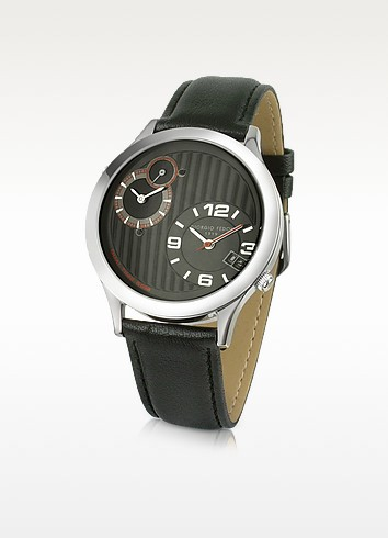 Dual-Time Men's Black Stainless Steel Date Watch - Giorgio Fedon 1919