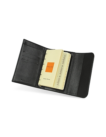 Classica - Small Black Calfskin Weekly Organizer Diary
