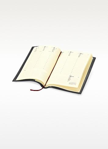 Classica - X-Large Black Calfskin Weekly Diary w/Address Index - Giorgio Fedon 1919