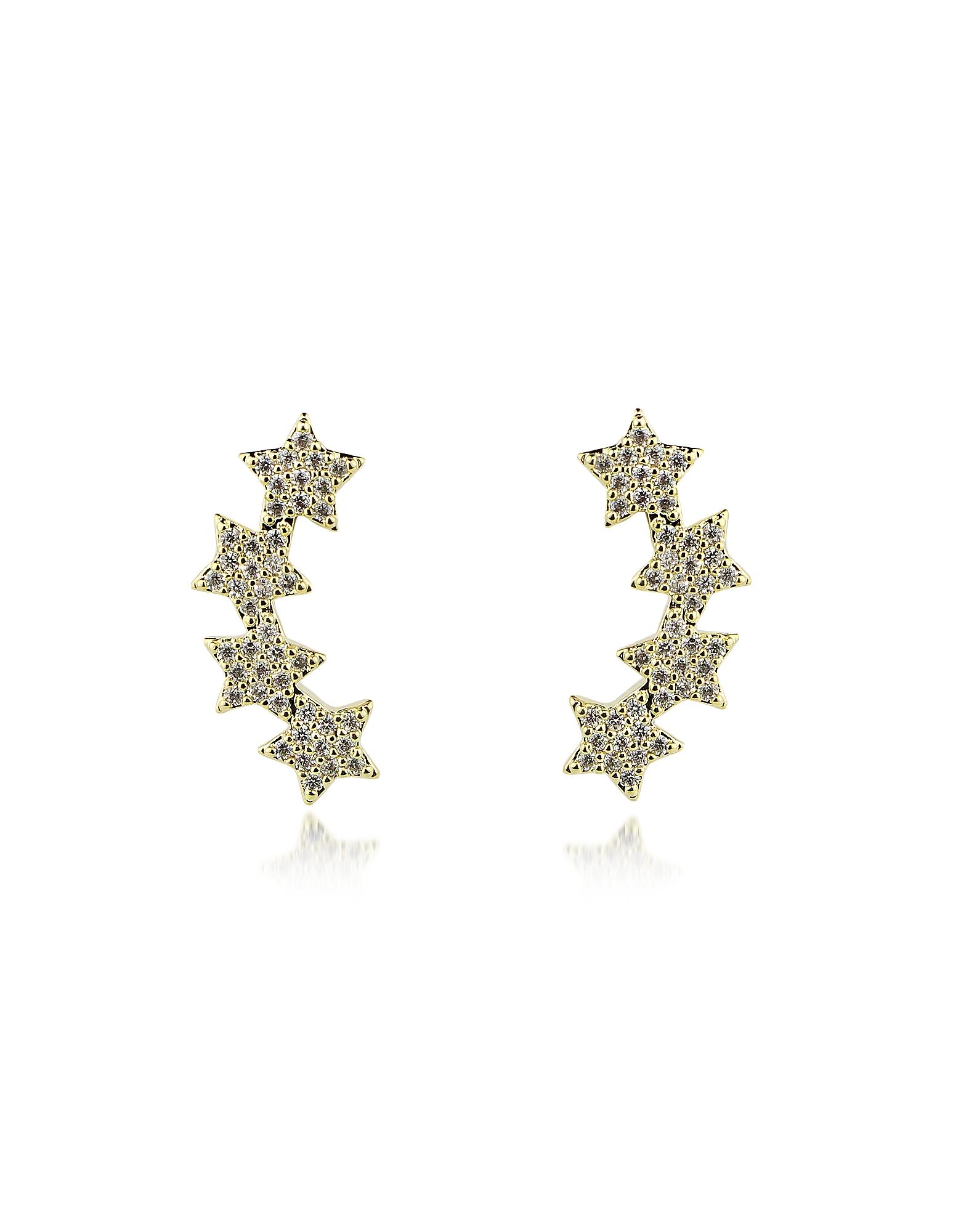Federica Tosi Designer Earrings, Lobo Multi Stars Earrings