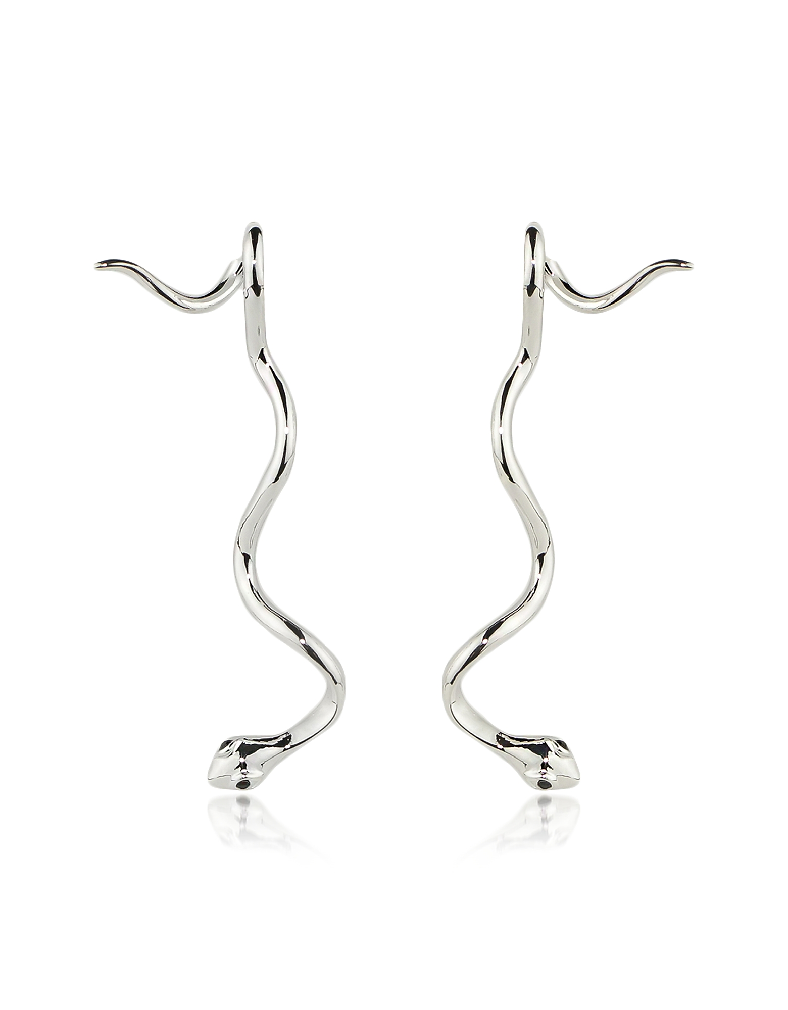 Federica Tosi Earrings, Long Snake Basic Earrings