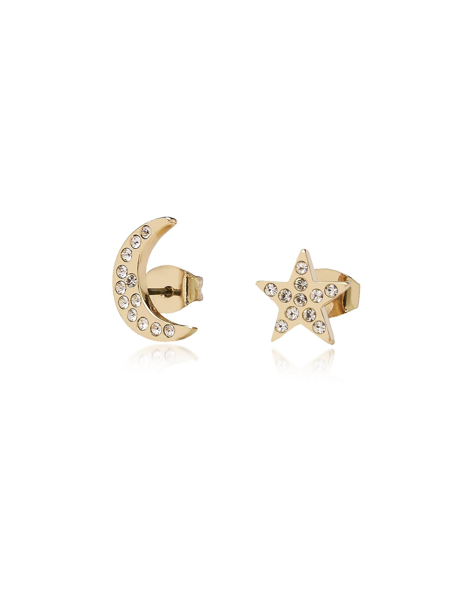 Federica Tosi Earrings, Moon & Stars Earrings