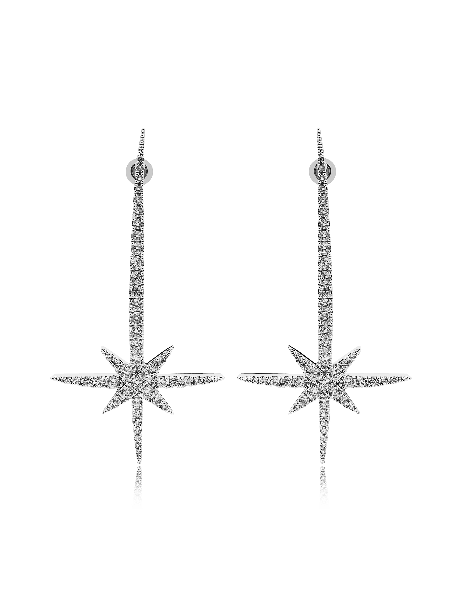 Comet Earrings w/Strass