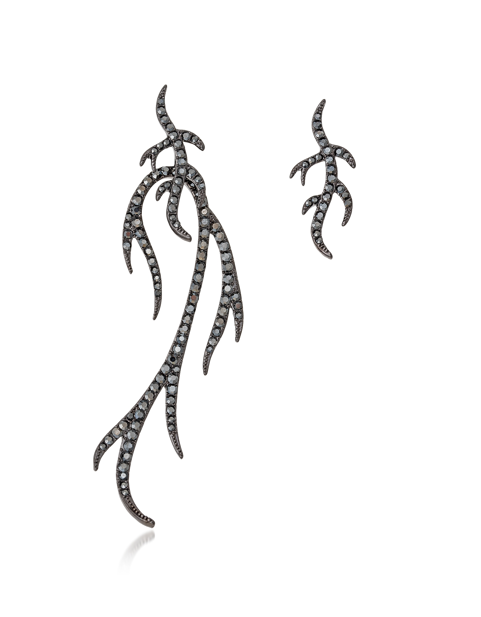 Blackened Sterling Silver Twigs Earring