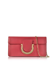 Gancio Pamplona Leather Clutch - Salvatore Ferragamo