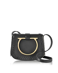 Sabine Black Leather Small Crossbody Bag - Salvatore Ferragamo