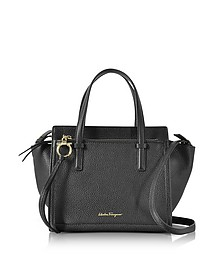 Amy Black Leather Handbag - Salvatore Ferragamo