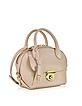 Small Fiamma New Bisque Leather Shoulder Bag - Salvatore Ferragamo