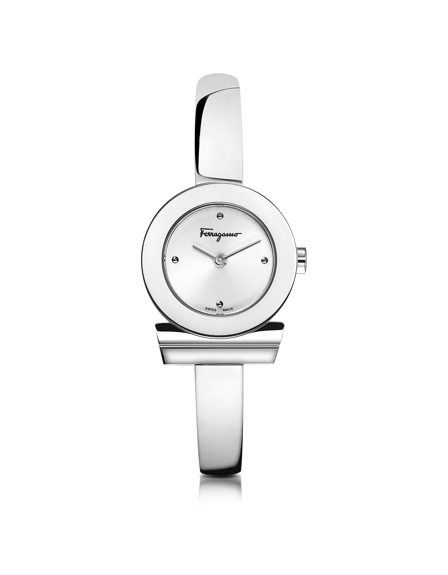 Salvatore Ferragamo Women's Watches, Gancino Silver Stainless Steel Women's Watch